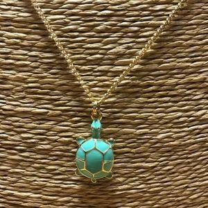 J Crew Enamel Turtle Necklace (long)